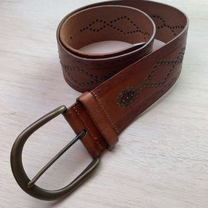 Fossil | studded leather belt
